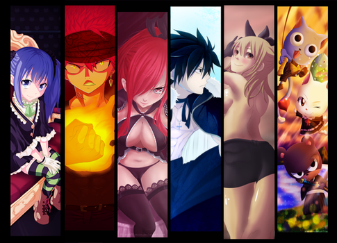 Supercollab de Fairy Tail xD by eltk