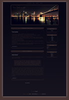 Blogspot template New York by MySensitiveHeart