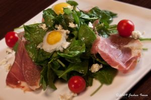 Quail egg salad by joshoshua