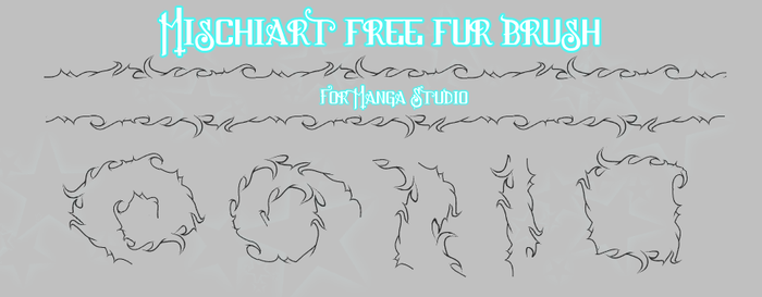 Free Manga Studio Brush:  Fur by MischiArt