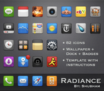 Radiance theme for iPhone by kediashubham