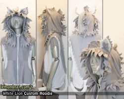 White Lion Custom Hoodie by lemonbrat