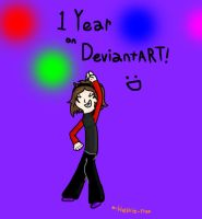 1 Year on DeviantART~ by Helkie-three