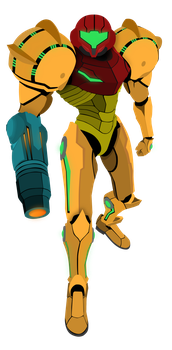 Samus Aran - Metroid Vector by firedragonmatty
