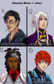 Interactive Character Meme - CROWS - 1. Intros by TyrineCarver