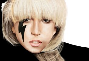 Lady Gaga speed paint by Tacoly