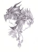 FFIV: Kain and Cecil by StringsofmySoul