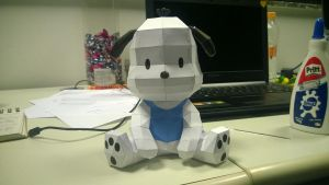 Pochacco (Hello Kitty) Papercraft by alisonfreire