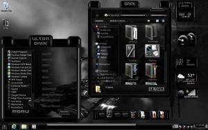 Black Theme Ultra Dark Windows 7 by ToxicoSM