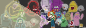 Luigi's Mansion, Past and Present by ScoIipedes