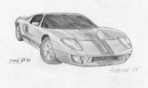 Ford F40 Drawing by Axertion