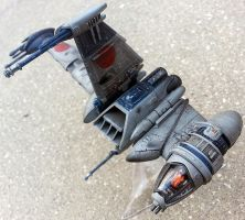 Rebel Alliance B-Wing Starfighter scale model by firebladecomics
