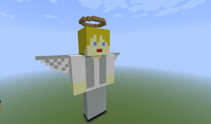 Minecraft Statue - Angelo by Syn-the-Guardian
