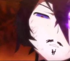 Insane Black Rock Shooter with mustache :)) by 0Eka0