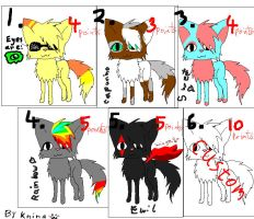 Purrfect adoptables :D by Arkare
