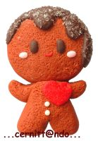 Gingerman polymer clay pin by cernittando