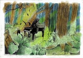 forest of piano by Rasty-Cat