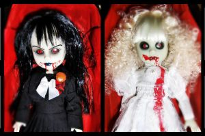 Two little sisters of Decay by livingdeaddollie