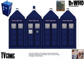 New TV Comic Tardis paper model by gfoyle
