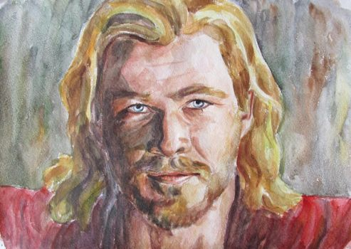 Chris Hemsworth as Thor by Greencat85