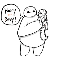 Hairy Baby by SunstarXD