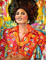 Pam Grier by amoxes