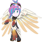 [Request] Flurry Heart as Mercy by LimeDazzle