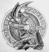 Commission: Dark Magician by AlexRose312