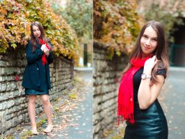Red scarf by DorottyaS