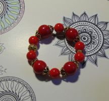 Red dragon bracelet by Koneko-himeko