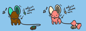 Portable Mouse Speaker Adoptables [CLOSE] by Iko-Kawaii