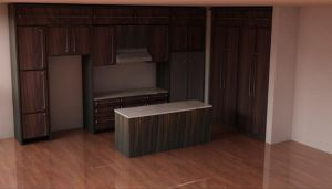 3d Kitchen by hybrid-underground