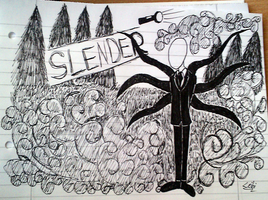 quick Slender doodle by Leibi97