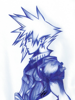 Request Cloud Strife (ballpoint pen) by passion00