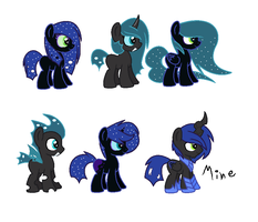 Nightmare MoonXChrysalis ship adopts (CLOSED) by Monster-Drool