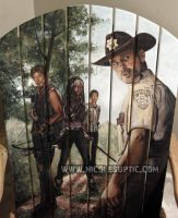 The Walking Dead -- painted on a chair by xnicoley