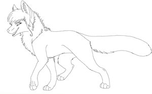 fox lineart by raven-morticia