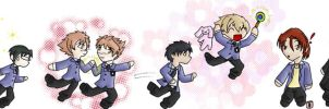 Ouran running by cutepiku