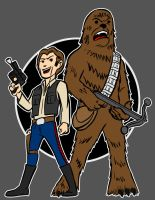han and chewie by AlanSchell