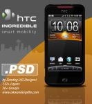 HTC Incredible Smartphone .PSD by zandog