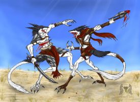 Sergal Warrior's by Heart0fInk
