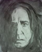 Snape in the shadows... by GingerBites
