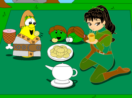 Herbia's tea party picnic with Serf and the peas by Magic-Kristina-KW
