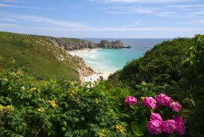 Porth Curno by parallel-pam