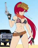Request: Cowgirl Yoko + Truck by MR-CREEPING-DEATH