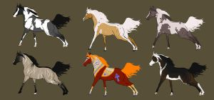 Horse Adoptables Open  - 2 Left by ratimo