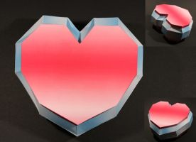 Heart Container Papercraft by Drummyralf