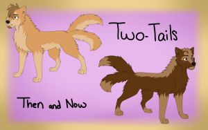Then And Now : Two-Tails by Mana-ghostwolf