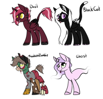 Halloween Adopts [OPEN] by KatPocketMonster