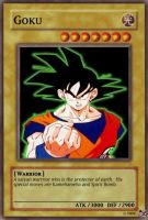 Goku card by urkel8534